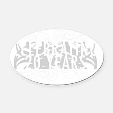 Celebrating 20 Years Of Marriage Oval Car Magnet