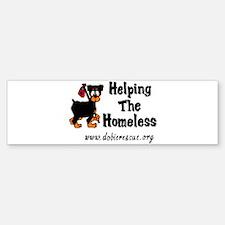 helping the homeless Bumper Bumper Bumper Sticker