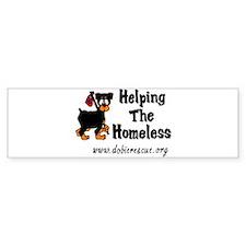 helping the homeless Bumper Bumper Sticker