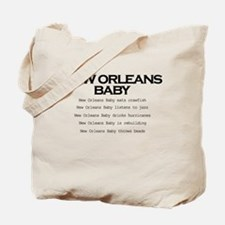 Cute New orleans baby Tote Bag