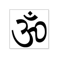 "Yoga Ohm, Om Symbol Square Sticker 3"" x 3"""