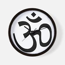 Yoga Ohm, Om Symbol Wall Clock