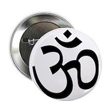 """Yoga Ohm, Om Symbol 2.25"""" Button"""