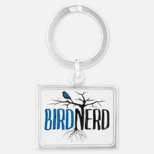 Bird Nerd Landscape Keychain