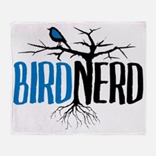 Bird Nerd Throw Blanket