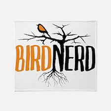 Bird Nerd (Black and Orange) Throw Blanket