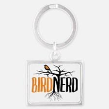 Bird Nerd (Black and Orange) Landscape Keychain