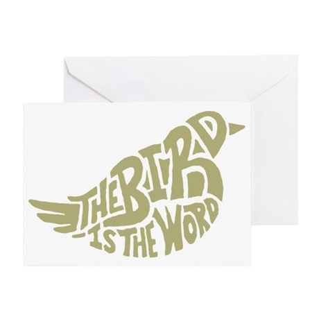 The Bird is the Word (light green) Greeting Card