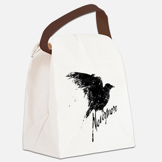 Nevermore Raven Canvas Lunch Bag