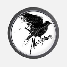 Nevermore Raven Wall Clock