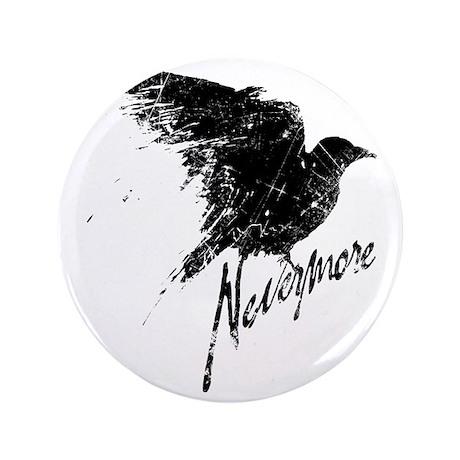 "Nevermore Raven 3.5"" Button"
