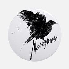 Nevermore Raven Round Ornament
