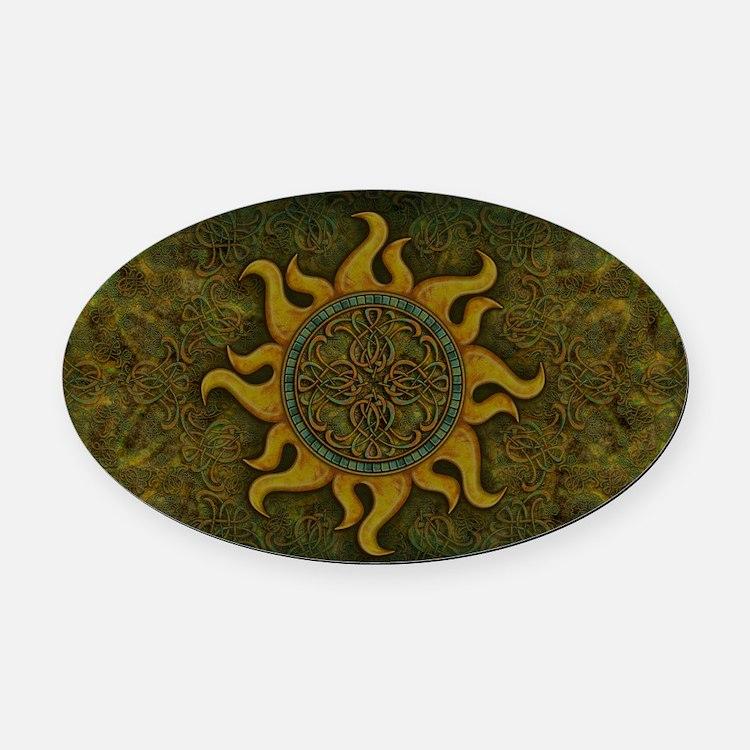 Ancient Sun Oval Car Magnet
