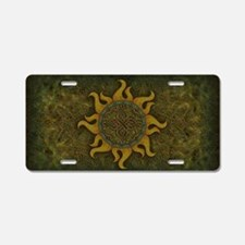 Ancient Sun Aluminum License Plate