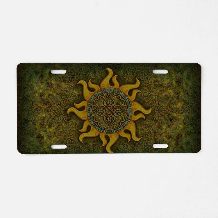 Ancient Sun Aluminum License Plate