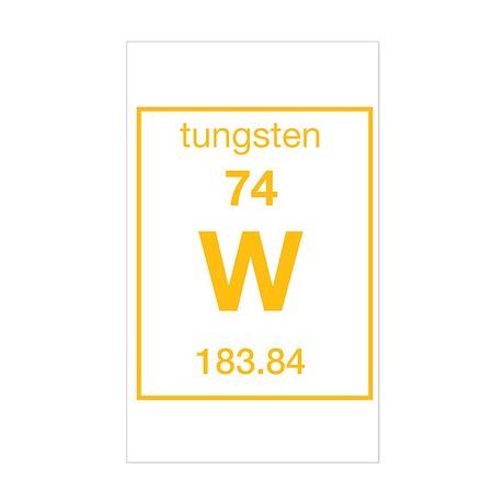 Tungsten Rectangle Sticker