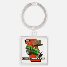 Oliver 1650 Tractor Square Keychain