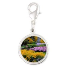 Gardens Color Explosion Silver Round Charm
