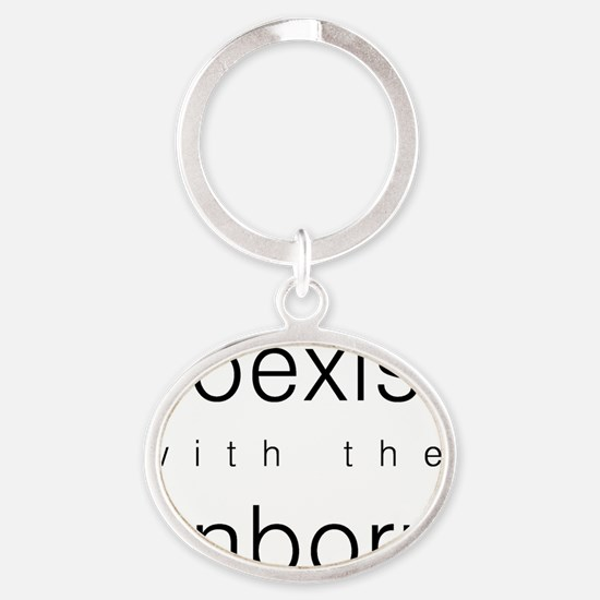 Coexist with the Unborn Oval Keychain