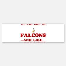 All I care about are Falcons Bumper Bumper Bumper Sticker