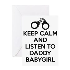 Keep Calm and Listen to Daddy w/ Han Greeting Card