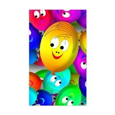 Colored Happy Smiley Faces Decal