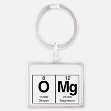 Periodic Table OMg design for d Landscape Keychain
