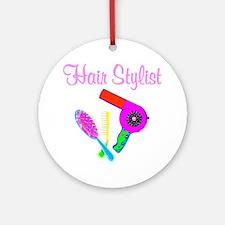 TRENDY HAIR STYLIST Round Ornament