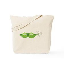 Pea Pod Twins Tote Bag