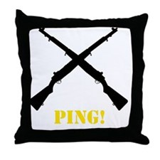 M1 Garand Yellow Throw Pillow