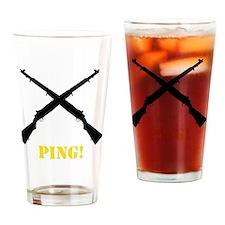 M1 Garand Yellow Drinking Glass