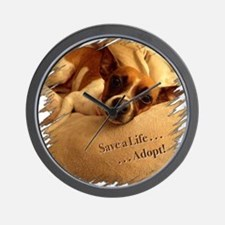 Save a Life . . . Adopt! Wall Clock