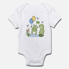 Froggie 3rd Birthday Infant Bodysuit