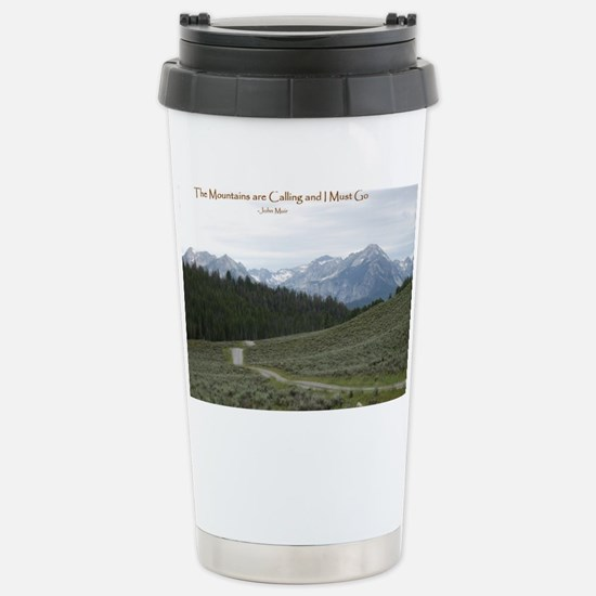 The Sawtooth Mountains  Stainless Steel Travel Mug