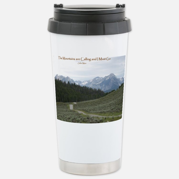 The Sawtooth Mountains  Travel Mug
