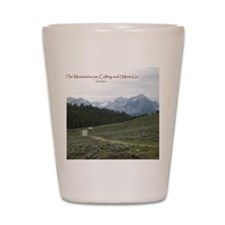 The Sawtooth Mountains are Calling Shot Glass