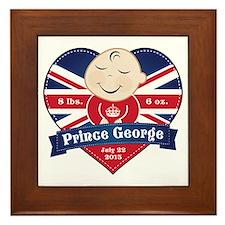 Prince George Heart Framed Tile