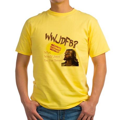 WWJDFB Jesus Bacon Yellow T-Shirt