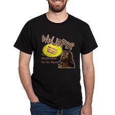 WWJDFB Jesus Bacon Midnight Black T-Shirt