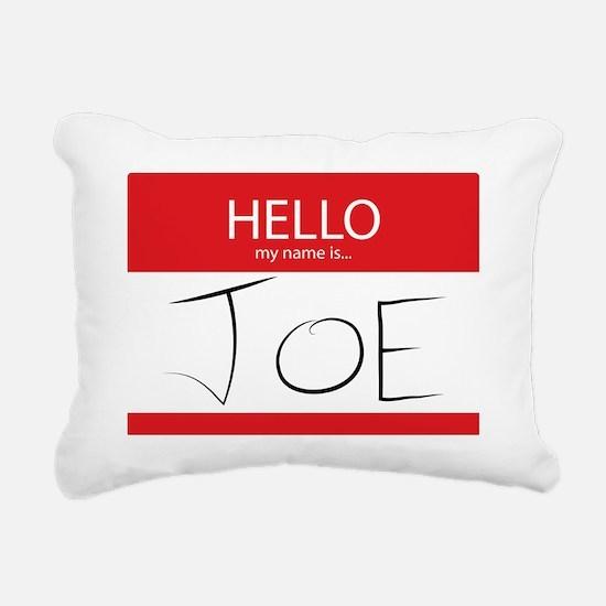 Cup of Joe: Name Tag Rectangular Canvas Pillow