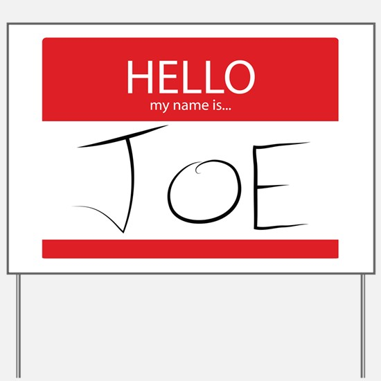 Cup of Joe: Name Tag Yard Sign
