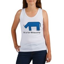 R is for Rhino Women's Tank Top
