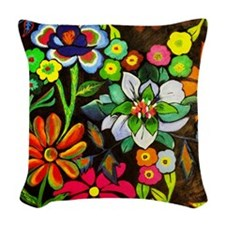 Everything's Blooming Woven Throw Pillow
