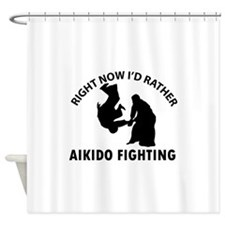 Aikido fighting designs Shower Curtain