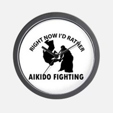 Aikido fighting designs Wall Clock