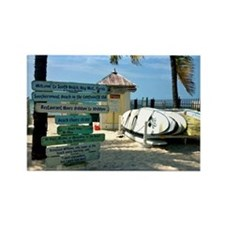 Southernmost Beach Rectangle Magnet