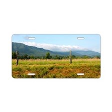 Mountains Aluminum License Plate