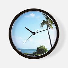 Key West beach Wall Clock