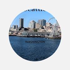 "Seattle_2.5x3.5_Ornament(Oval)_Seattle 3.5"" Button"