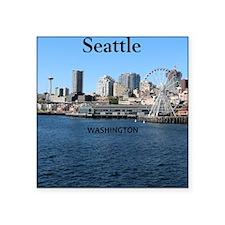 """Seattle_2.5x3.5_Ornament(Ov Square Sticker 3"""" x 3"""""""